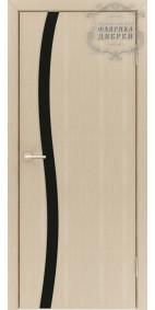 Межкомнатная дверь ДО Сириус 1 узкое (черное)