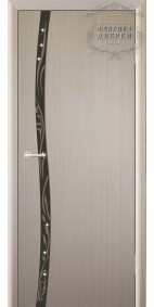 Межкомнатная дверь ДО Сириус 1 узкое с рисунком вьюн (черное,стразы)
