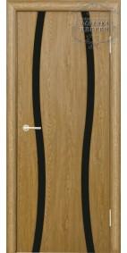 Межкомнатная дверь Сириус 2 узких линии (черное)