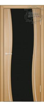 Межкомнатная дверь ДО Сириус с молдингом (черное)