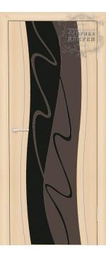 Межкомнатная дверь ДО Сириус с молдингом с рисунком Грань (черное)