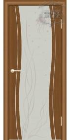 Межкомнатная дверь ДО Сириус с молдингом с рисунком медуза