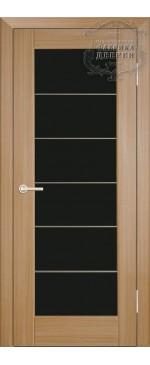Межкомнатная дверь ДО Люкс с молдингом (черное)