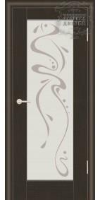 Межкомнатная дверь ДО Люкс 2 с рисунком Абстракция
