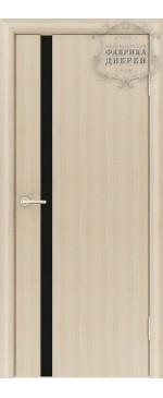 Межкомнатная дверь ДО Стиль 1 узкое (черное)