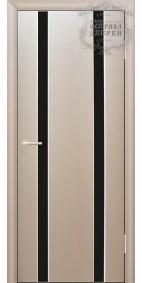 Межкомнатная дверь ДО Стиль 2 узких линии (черное)