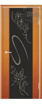 Межкомнатная дверь ДО Стиль с рисунком Кристал (черное,стразы)