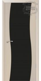 Межкомнатная дверь ДО Сириус полное (черное) стойки Волна
